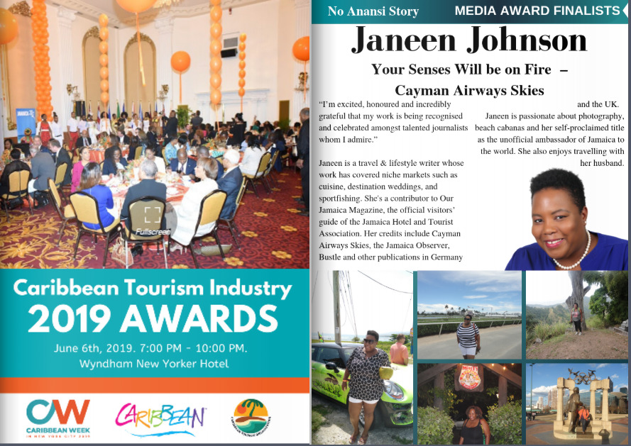 CTO Awards Caribbean Travel Journalist Janeen Johnson